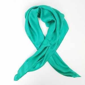 Vintage Christian Dior Green Silk Scarf